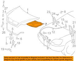 lexus rx300 cv joint lexus toyota oem 99 03 rx300 hood insulation pad liner heat shield