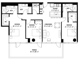 Master Suites Floor Plans New Lakeview Three Bedroom Has Two Master Suites Three Full Baths