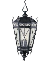 Indoor Hanging Lantern Light Fixture Maxim Lighting 30459 Canterbury 12 Inch Wide 3 Light Outdoor