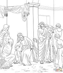 let the little children come unto jesus coloring page free