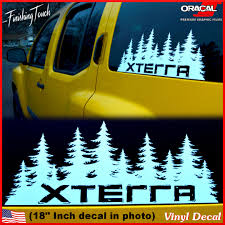 jdm sticker rear window nissan xterra decal custom vinyl forest silhouette graphic