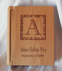 engraved photo albums engraved personalized wood photo amd picture albums