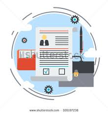 business portfolio employment issue resume job stock vector