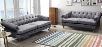 Fabric Chesterfield Armchair Dark Grey Leather Chesterfield Sofa Sofa Nrtradiant