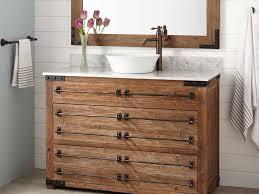Farmhouse Black White Timber Bathroom by Bathrooms Design Classic Bathroom Wood White Wash Vanity Cabinet