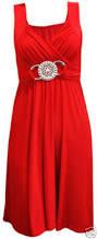 new ladies womens short buckle evening midi bridesmaid dress plus