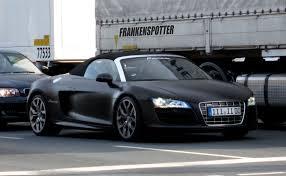 audi r8 spyder black matte black audi r8 v10 spyder in nuremberg this car made flickr