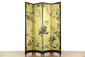 coromandel carved 4 panel chinese screen harp gallery antique