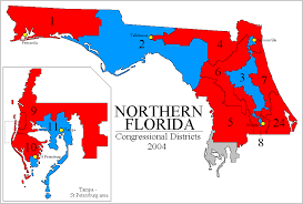 Florida House Districts Map Rangevoting Org Gerrymandering And A Cure Shortest Splitline