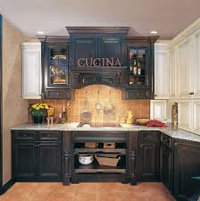 Distressed Black Kitchen Island Considering The Dark And Cool Black Kitchen Cabinets