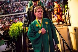 graduation medallion silverman voice of usf graduations retires in style wusf news