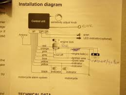 jcar 886 bike alarm dl650 wiring issue