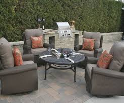 gorgeous all weather patio chairs six piece stackable all weather