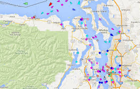 seattle map traffic see how busy puget sound shipping lanes really are curbed seattle