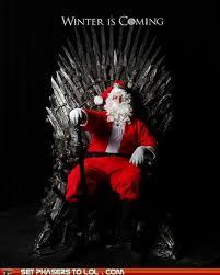 Christmas Is Coming Meme - santa stark the present he brings is justice my inner fangirl