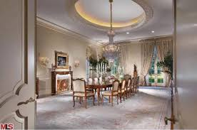 Aaron Spellings Mansion Sold To UK Heiress OnTheRedCarpet - Mansion dining room