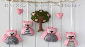 diy sew a nursery owl mobile youtube