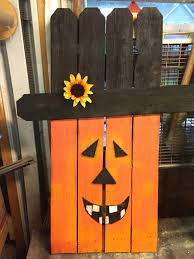 halloween pumpkin upcycle picket fence picket fence decorations