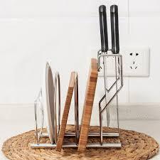 pot ustensiles cuisine acier inoxydable porte couteau de cuisine pot couvercle planche à