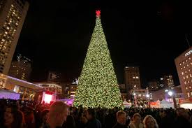 live union square at macy s 2016 great tree lighting sfgate