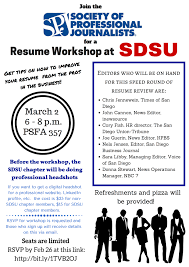 Resume Writing Class Student Resume Workshop At Sdsu San Diego Society Of