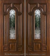 Home Depot Double Doors Interior Exterior Double Doors In Mahogany