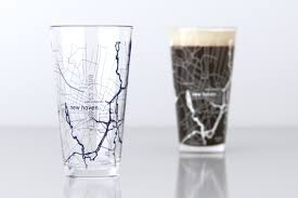 Yale Map College Town Maps Glassware Page 3 Theuncommongreen