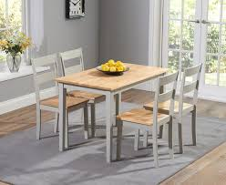 chiltern 115cm oak and grey dining table set with chairs the