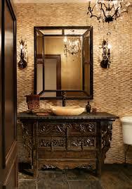 Wood Floor In Powder Room - luxury powder room designs