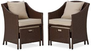 Patio Chairs With Ottomans by 26 Wonderful Patio Chairs With Slide Under Ottomans Pixelmari Com