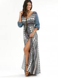 bohemian dresses blue xl bohemian empire waist button down maxi