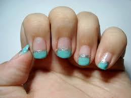 nails tiffany blue tips fashion fairytale a tale of fashion