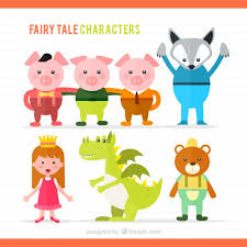 illustration of fairy tale characters vector premium download