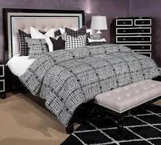 aico furniture sky tower platform bed black ice by michael amini