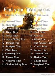 Meme Name - otaku meme 盪 anime and cosplay memes 盪 find your titan name
