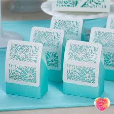 Blue Favor Boxes by New Tiffane Blue Favor Boxes Wedding Favors With White Laser