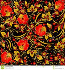 halloween background patterns khokhloma stock images image 28815234