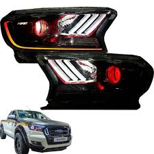 Ford Ranger Design Fit 15 Ford Ranger F Sport Facelift Ute Head Lamp Lights