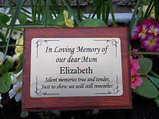 grave memorials personalised grave ornaments and memorials ebay