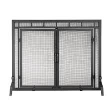 free standing fireplace screens with doors home fireplaces