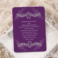 custom wedding invitations cheap purple damask ticket shape custom wedding invitation cards