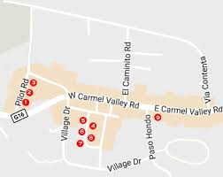 Garden State Plaza Map by Shops Carmel Valley California