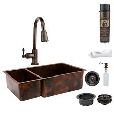 undermount kitchen sink with faucet holes faucet ksp2 k25db33199 in rubbed bronze by premier