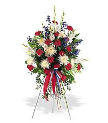 white and blue floral arrangements sympathy arrangements from s flowers