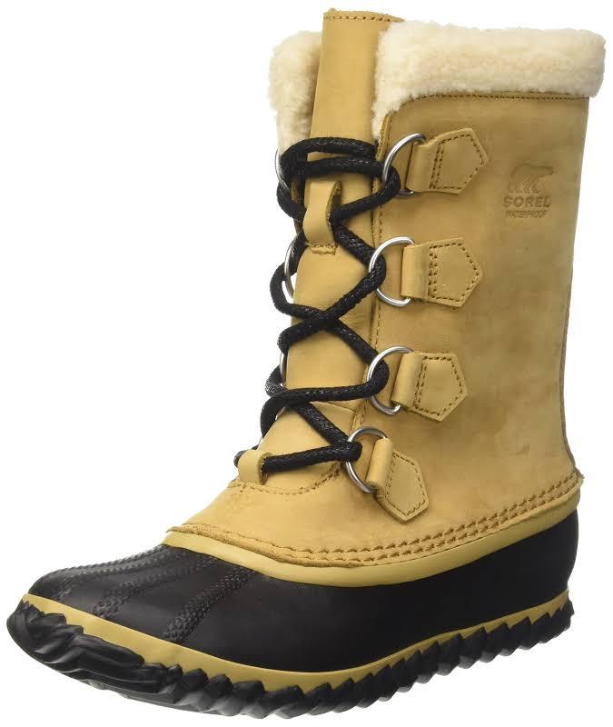Sorel Caribou Slim Snow Boots 8.5M Curry / Black