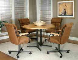 Casual Dining Room Sets Swivel Dining Room Chairs Casters Casual With Wheels Sets