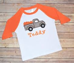 Toddler Halloween Shirt by Boy Pumpkin Truck Fall Shirt Boy Monogram Fall Toddler