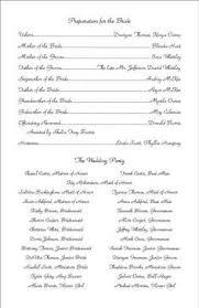 sample wedding ceremony template wedding program sample template