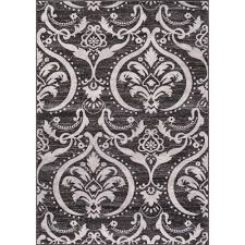 Concord Global Area Rugs Concord Global Trading Lara Large Damask Anthracite 6 Ft 7 In X
