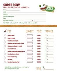 dinner order form template fundraiser order form order form fundraising and doterra